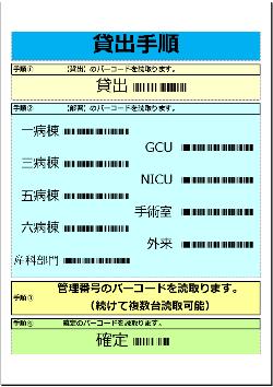 貸出返却用バーコード表